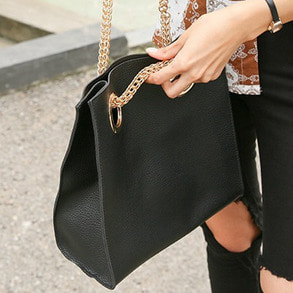 Dabagirl Faux Leather Square Chain Bag