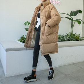 Dabagirl High Neck Loose Fit Puffer Jacket