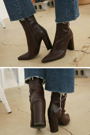 Dabagirl Pointed Toe Side Zip Ankle Boots